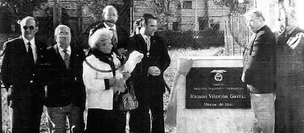 Inauguración de la placa dedicada a Ramón Vilariño García en su ciudad natal.