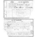 Billete de avión para traslado militar (1967).