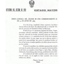 Carta de felicitación del General Vega