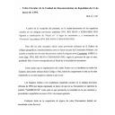 Telex-Circular de la Unidad de Documentación de Españoles de 13 de mayo de 1994