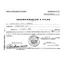 Notificación de incorporación a filas. (1966)