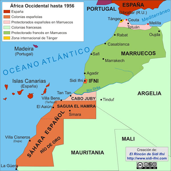 África Occidental hasta la independencia de Marruecos (1956)