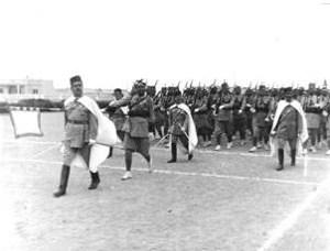 Desfile del Grupo de Tiradores de Ifni.
